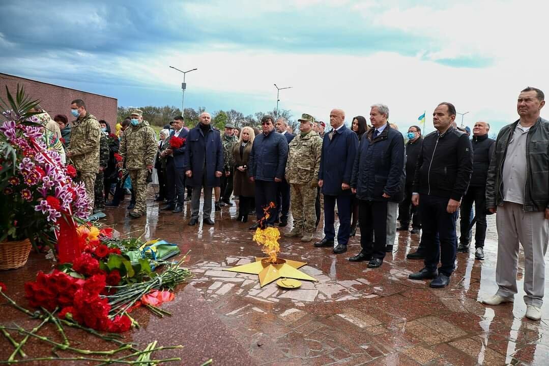 В Одессе перезахоронили останки 15 воинов, погибших при обороне и освобождении города